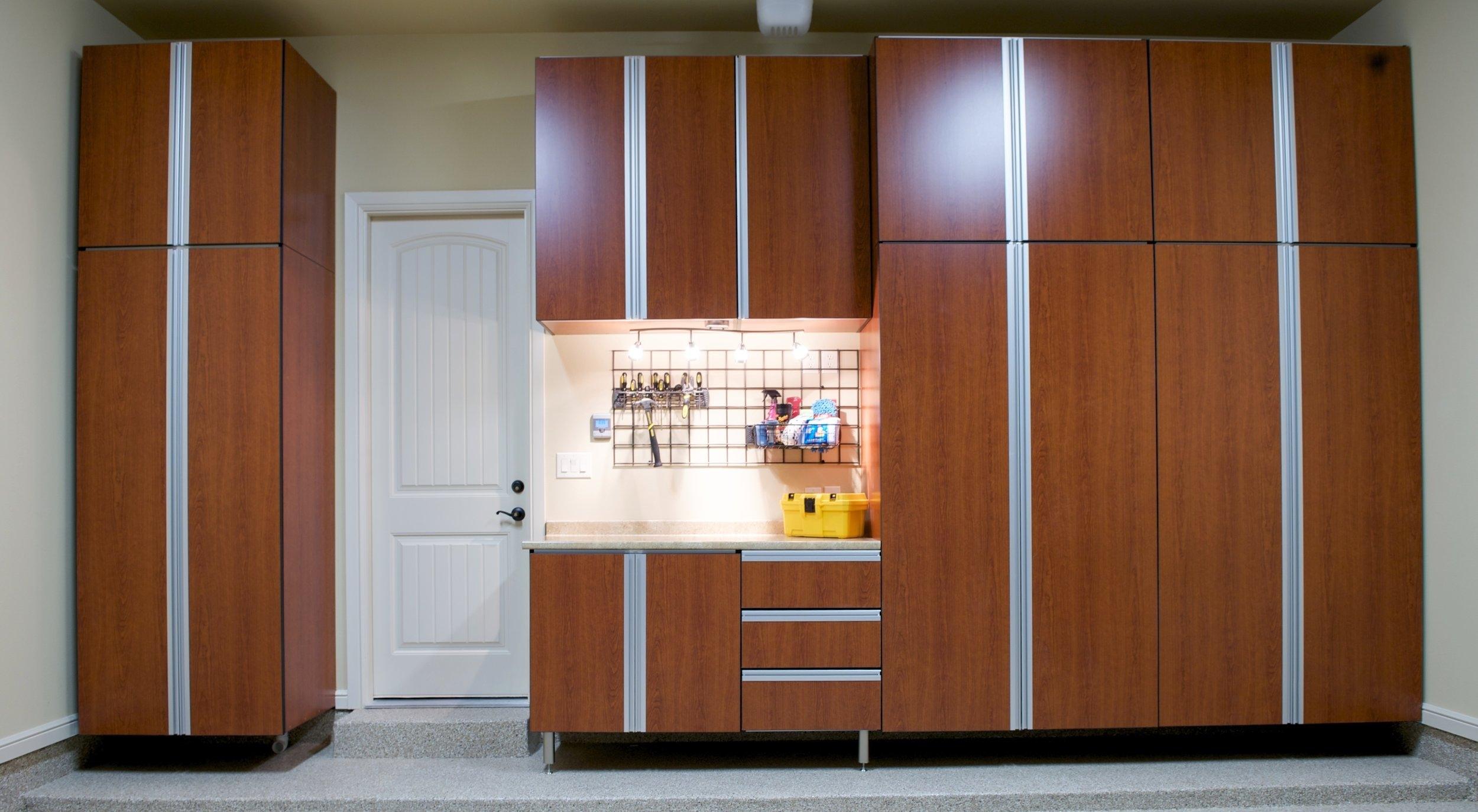 garage cabinets designer