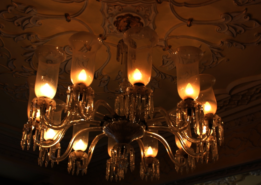 Chandeliers Inside Chowmahalla palace