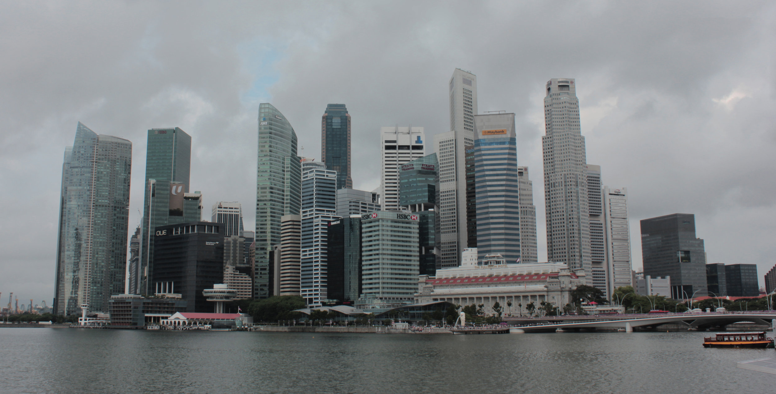View of city scape from Marina Bay