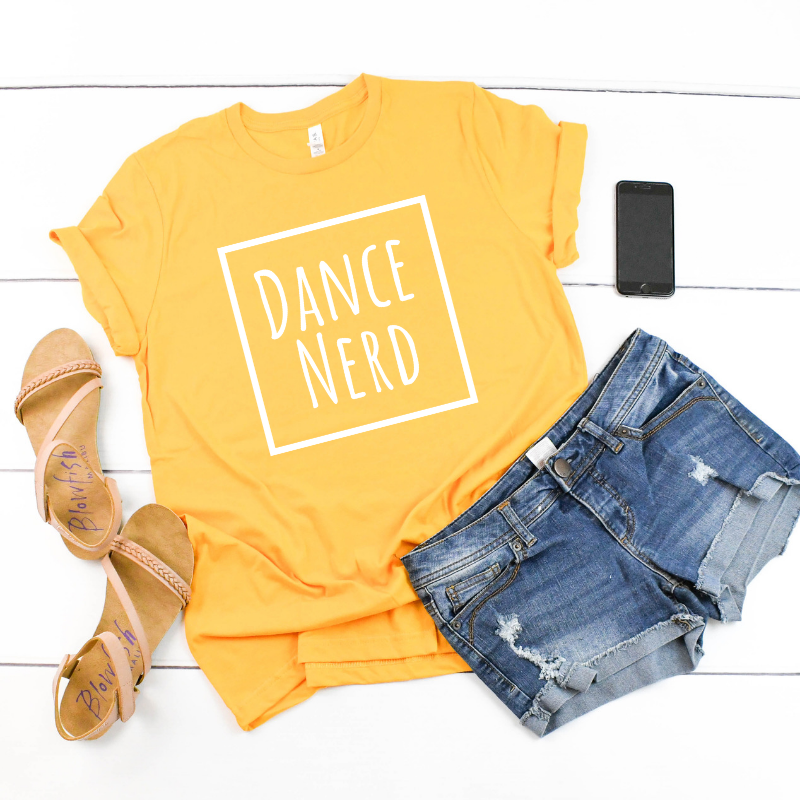 Gold Dance T-Shirt · Dance Nerd