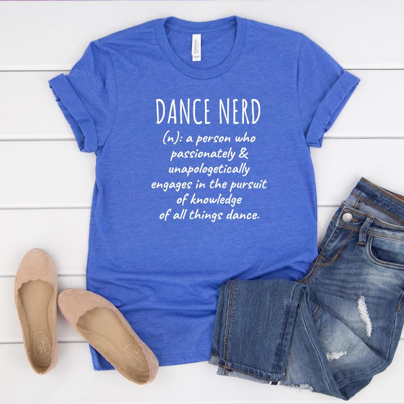 Blue dance t-shirt · Dance Nerd
