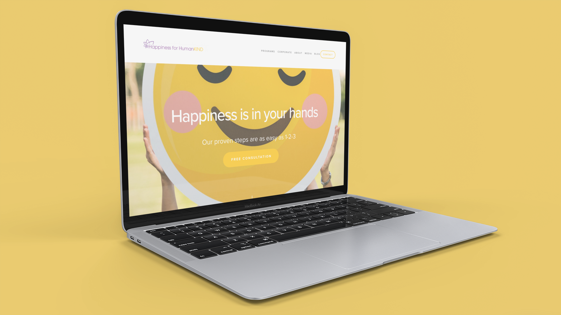 Happiness For HumanKind   Brand Story/Logo/Copy/Web Design/SEO