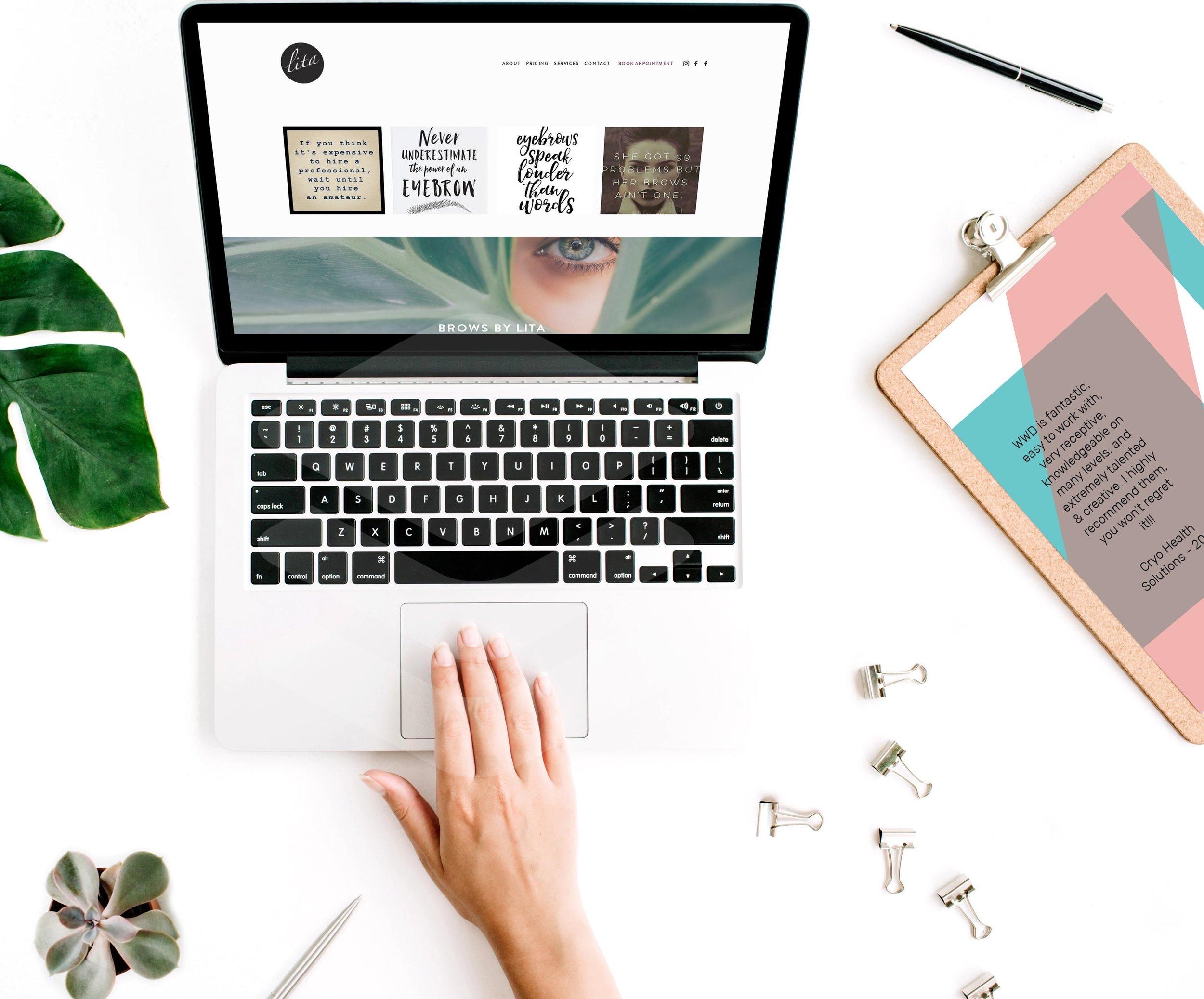 WWD designed website for Lita Brow Boutique