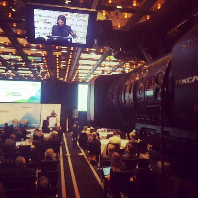 Filming the Premier NSW - Gladys Berejiklian for IMAG and Recording during her address at the Infrastructure Conference yesterday for prime av #cameraoperator #cameraman #liveevents #corporateevents #sonyaustralia #sony #premiernsw