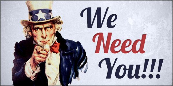 vi trenger deg