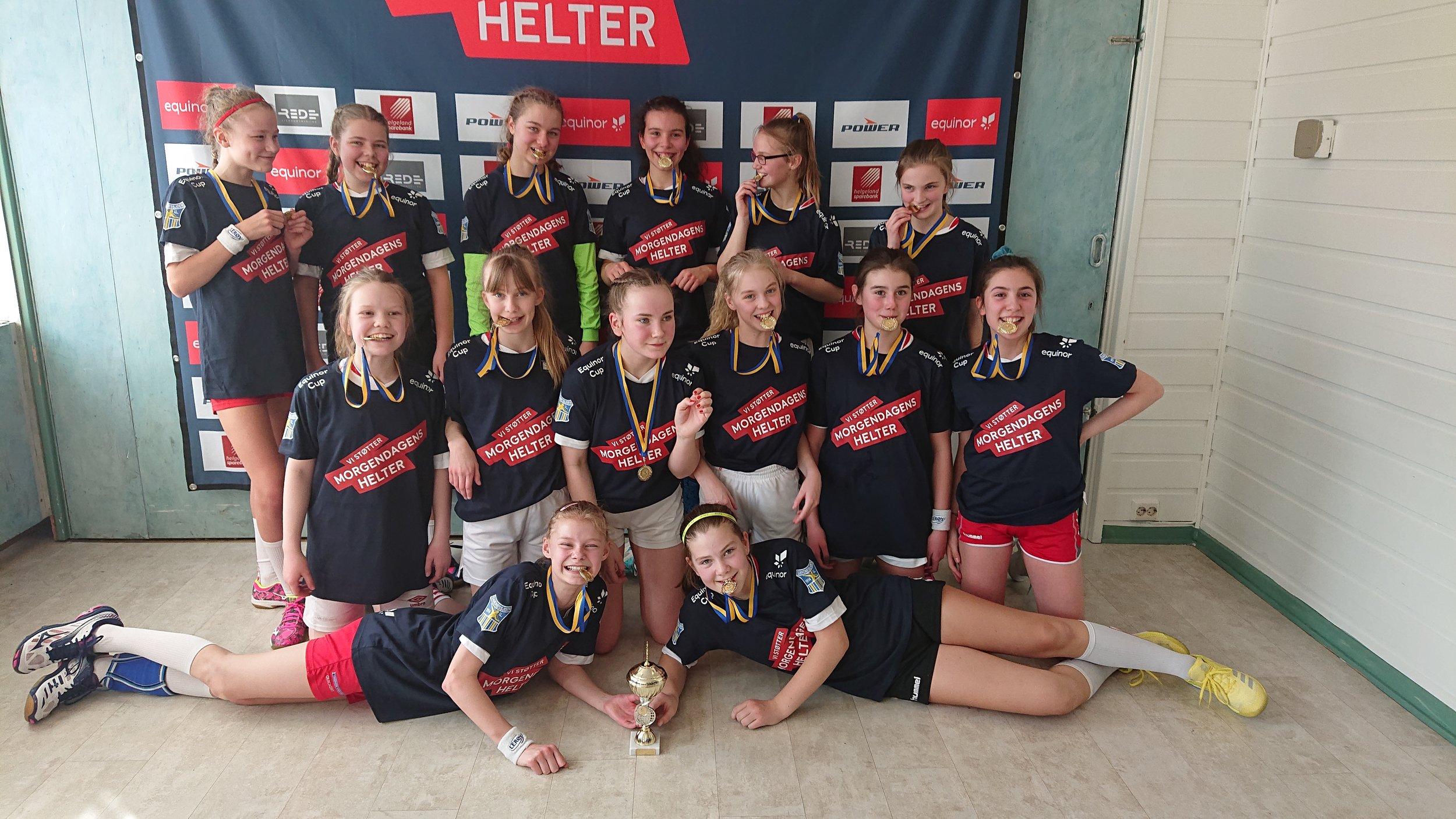 Fornøyde vinnere i Sandnessjøen!