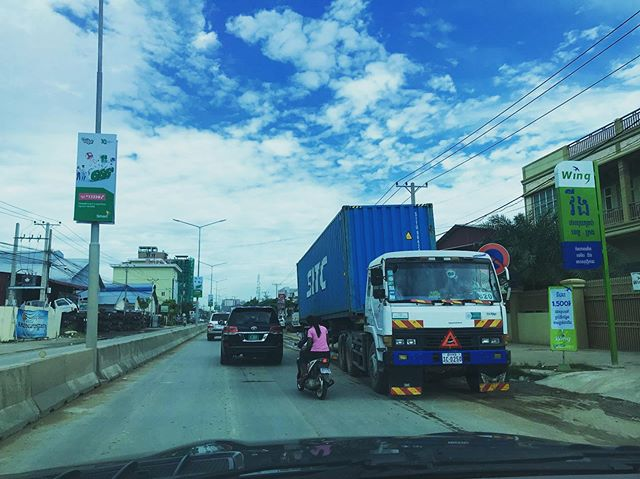 Imagine how will it effect to the people travel along the road if you drive like this? How will it effect your brand if it this cause accident? #roadsafety  #cambodia