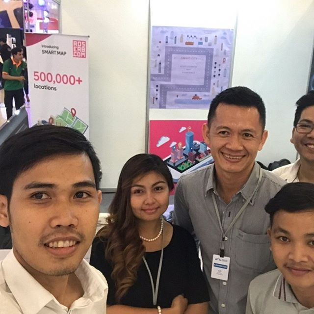 AT ICT Event organize by YUFC PNH. Our Smart Map for Smart Community