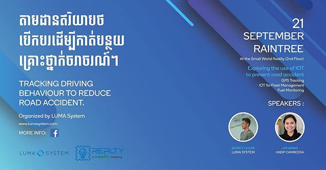 Join us on 21 September #Cambodia #roadsafety #traffic #iot