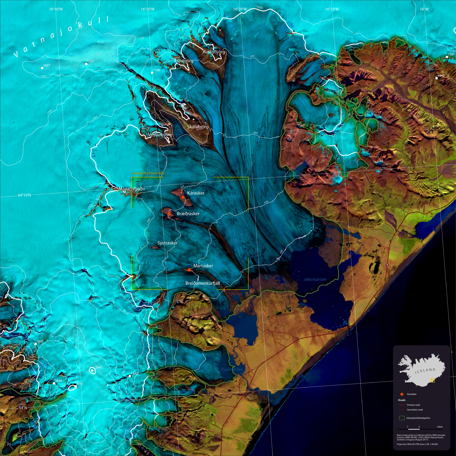 Vatnajökull Glacier, Iceland.     Produced for GRID-Arendal, AMAP, CAFF and the 2018 Arctic Biodiversity Congress. (2018).