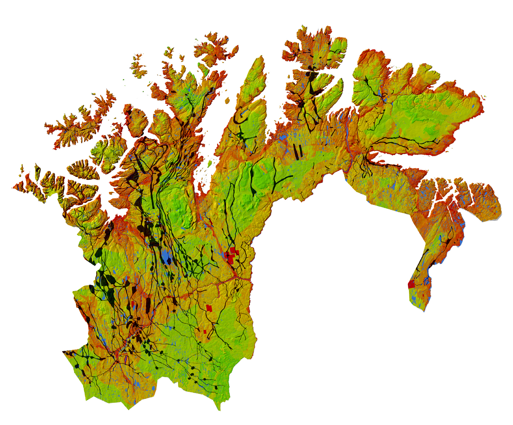 GLOBIO, Finnmark   (for participatory mapping workshop). Produced for GRID-Arendal and the International Center for Reindeer Husbandry, (2016).