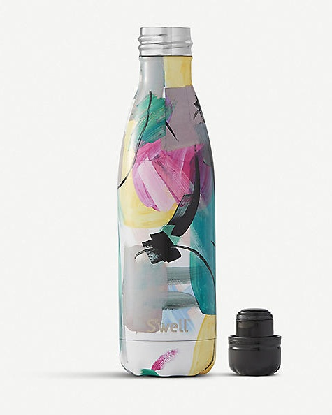 S'WELL - comes with the option of complimentary engraving!Brush Strokes Print Stainless Steel Water Bottle 500ml £35
