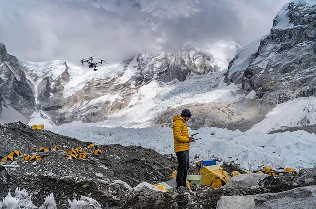 BREAKING: We've been biting our tongues for months and are elated to OFFICIALLY ANNOUNCE Virtual Wonders' involvement in the @natgeo and @rolex 2019 Everest Expedition!  Our team, in collaboration with our friends at @aerialfilmworks, completed a comprehensive 3D scan of the Nepal side of Everest. Including the highest elevation LIDAR scan ever and the most comprehensive photogrammetry and laser scan of the Khumbu glacier ever completed. The dataset will be used by scientists around the world to study the accelerating effects of climate change on this mountain and glacier.  This photo shows our Director of Field Operations, @chris2water, as he operates a drone at Everest base camp. Shot by: @fishercreative. #everest #natgeo #nepal #3d