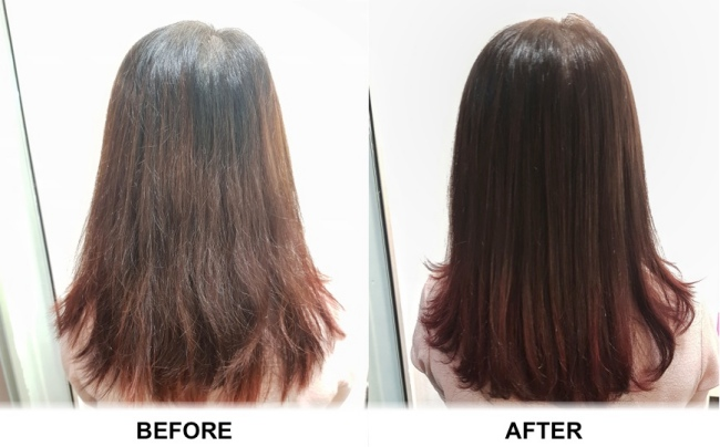 Keratin treatment by K gloss