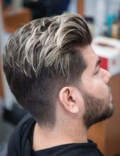 referensi warna rambut ash blonde untuk pria