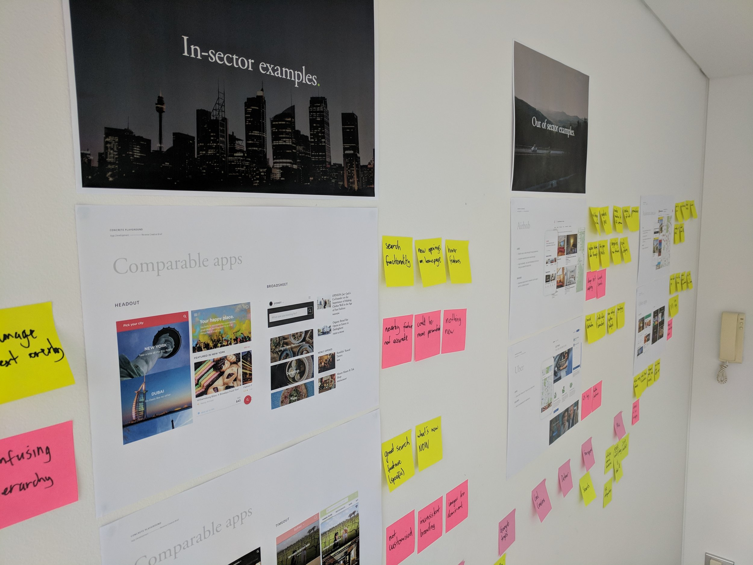 Client workshop to ideate and co-design for their new application.