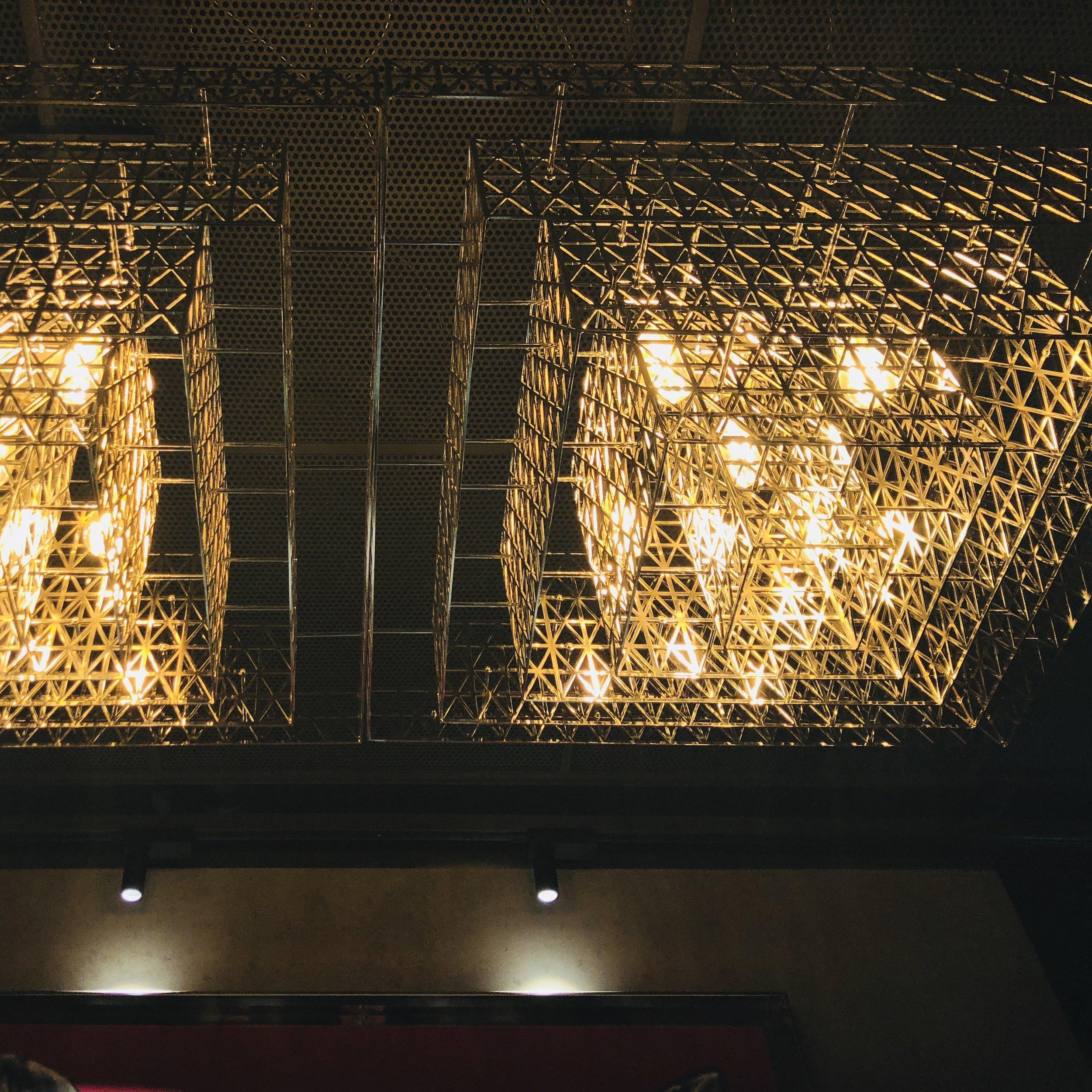 Bespoke light feature in Long Chim.