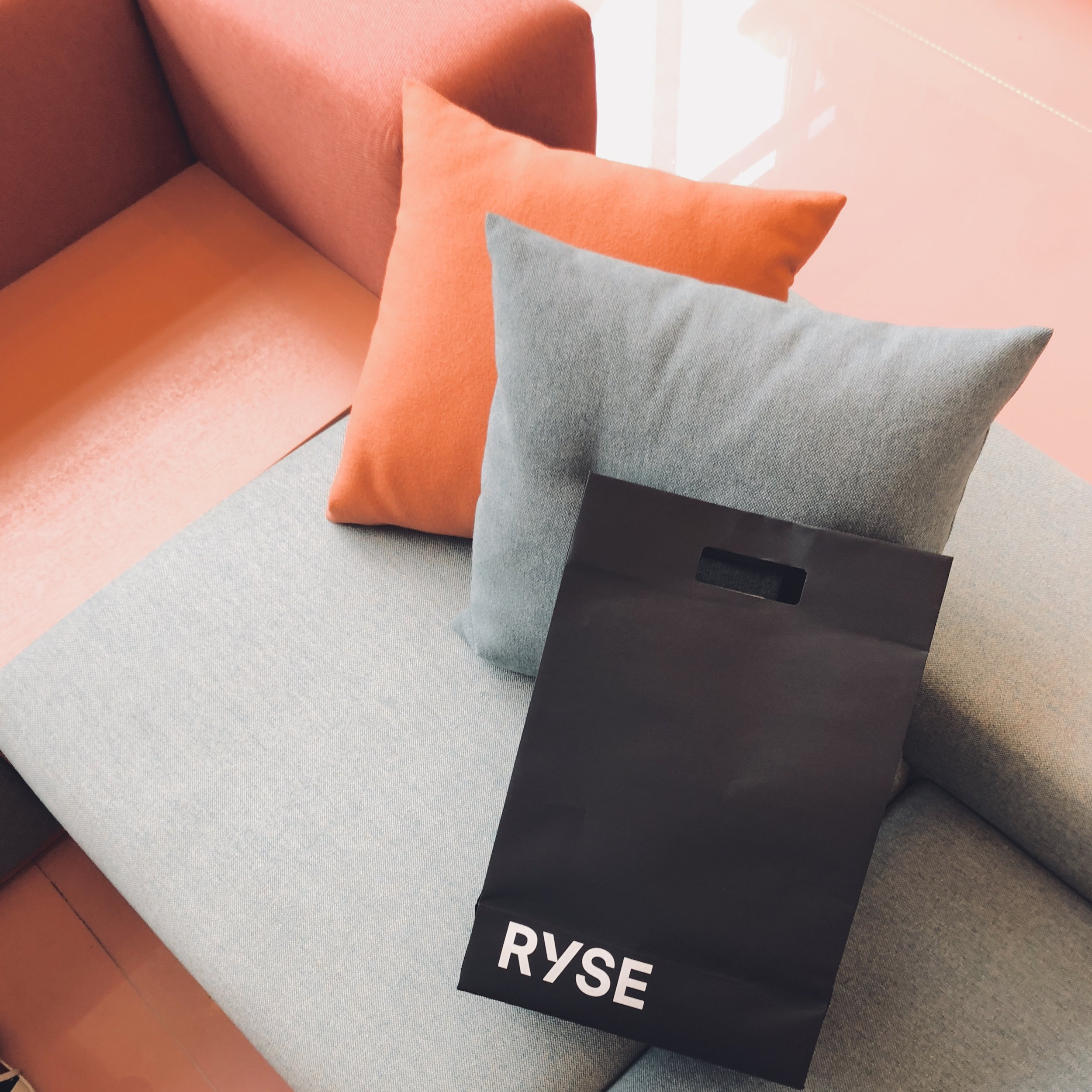 In the bag, a take home gift for myself- RYSE bathrobes designed by Korean indie fashion label, IISE.