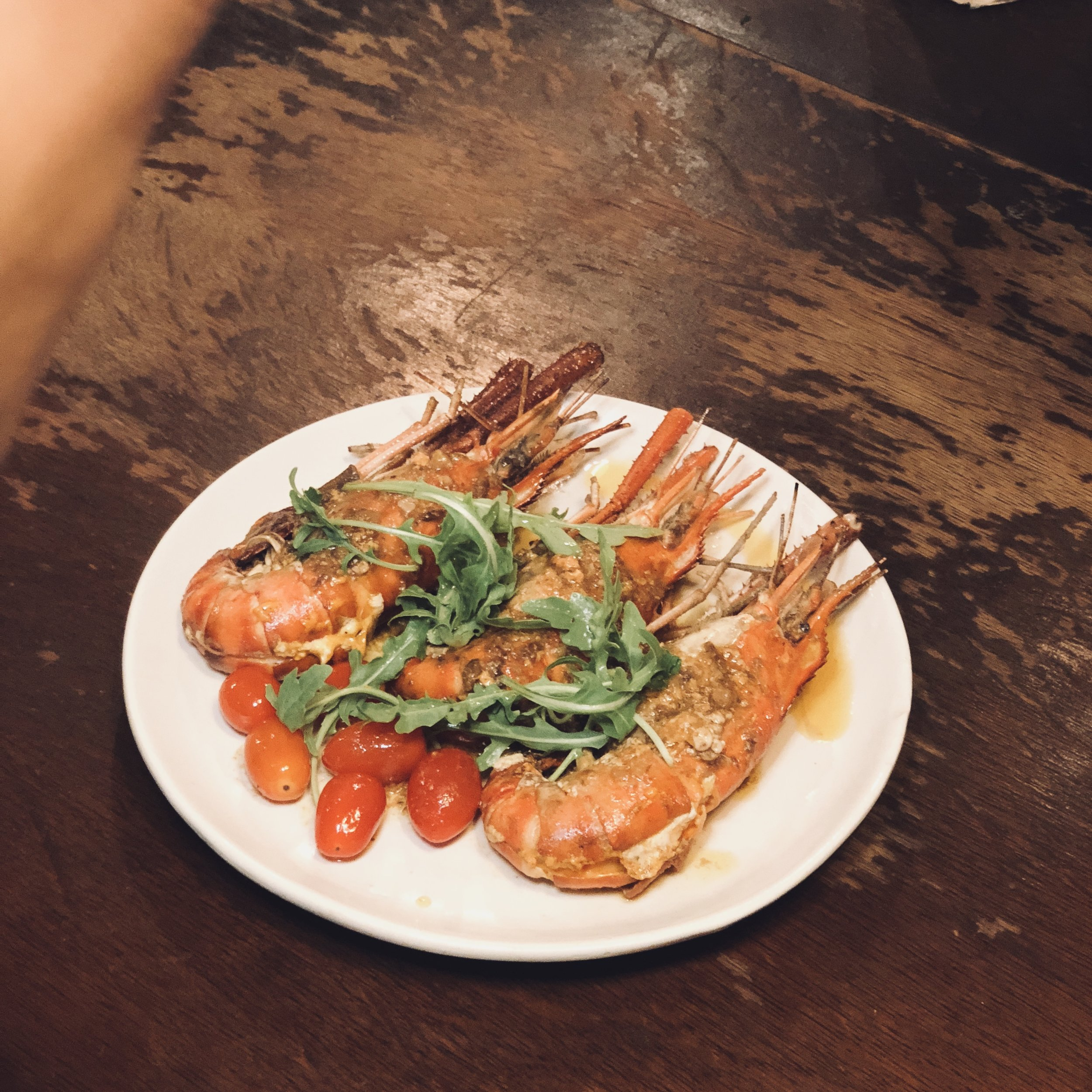 River Prawns with Anchovy Butter- another highlight.