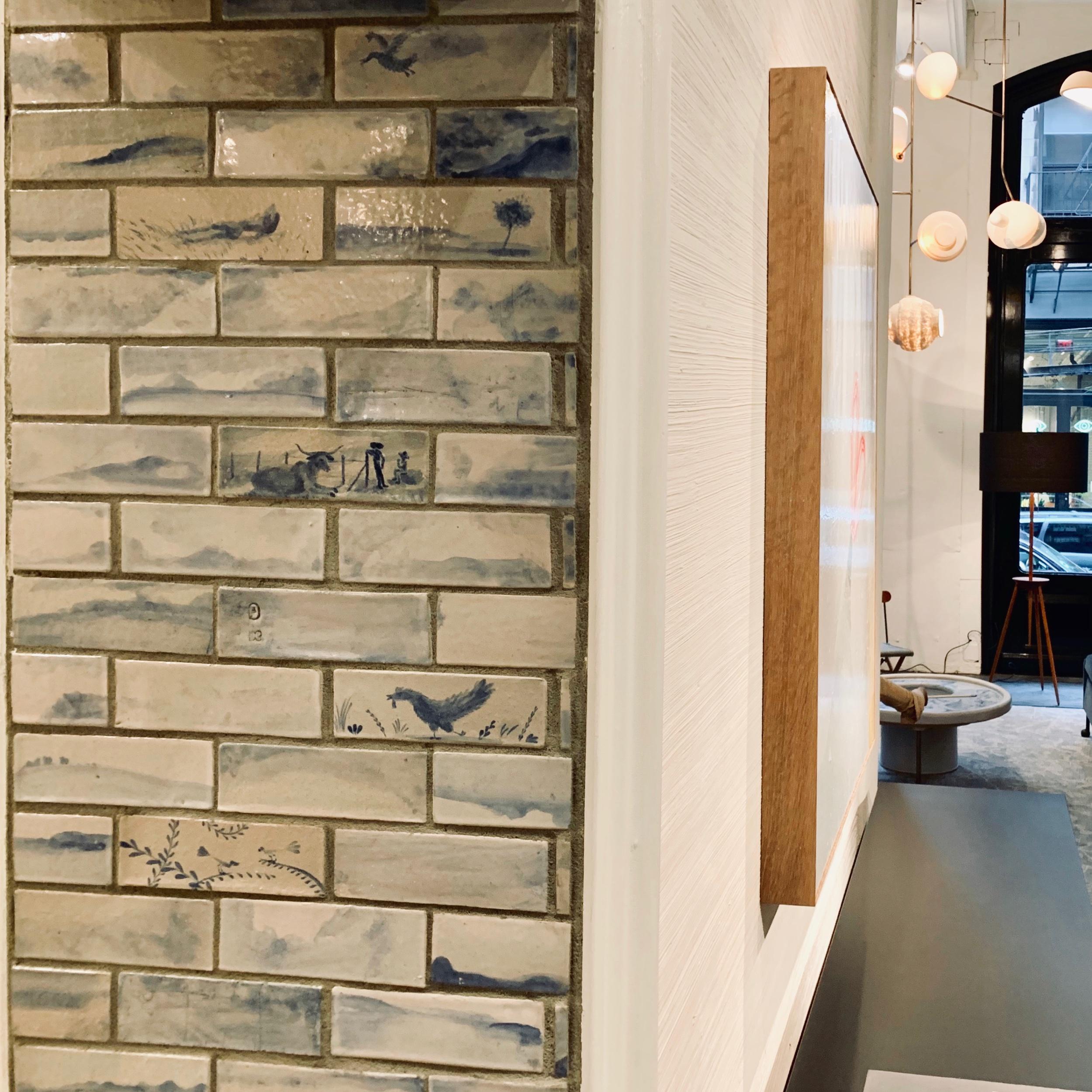Bespoke Handpainted Wall Ceramic Wall Tiles by Tyler Hays BDDW