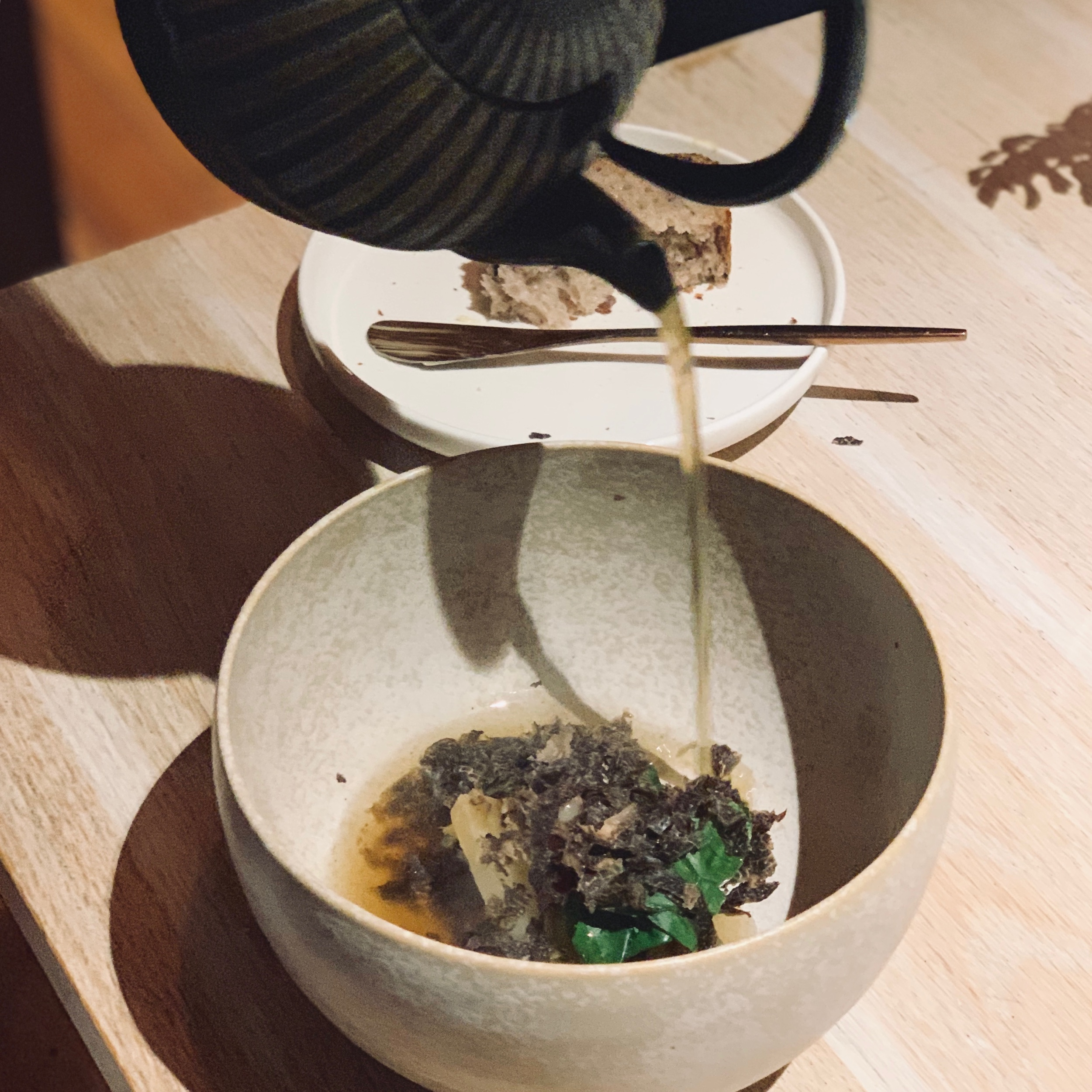 Bulalo an kabute, calamansi at Pato or Otway shiitake mushroom with Great Ocean duck, charred kombu and Manjimup truffle