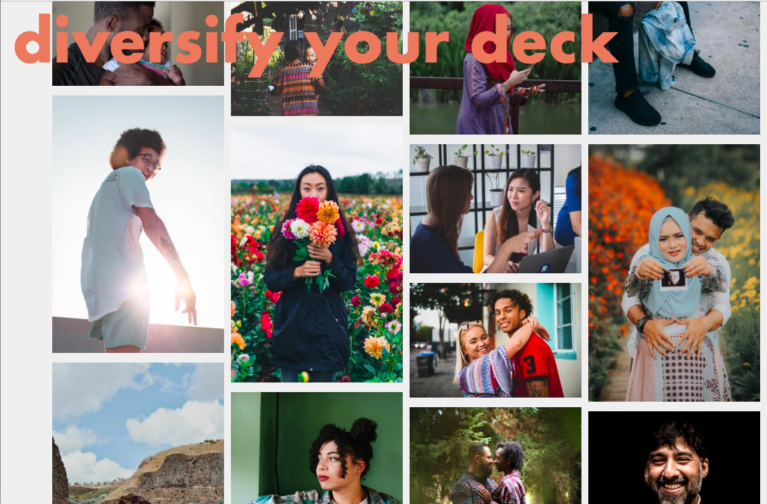 Client: Kellam Communication Project: Diversify Your Deck Founder and content curator for Diversify Your Deck, a digital collection of stock photos to help creatives, project managers, designers, strategiests, educators and marketers bring more diversity and inclusivity to our industry.