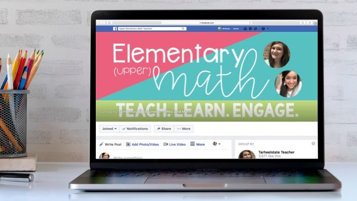 FACEBOOK GROUP - If you are a 3rd-6th grade math teacher, we'd love for you to join this 1,000+ teacher community. It's a great place to ask questions, share ideas, and watch the occasional live trainings from the group moderators!