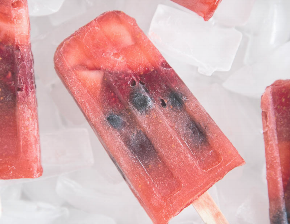 For Adults:  Berry Frose Popsicles  [Camille Styles]