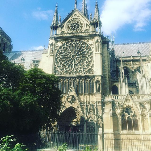 Looking back at photos I took last July in Paris of the Notre-Dame Cathedral. I'm so grateful for this travel memory.