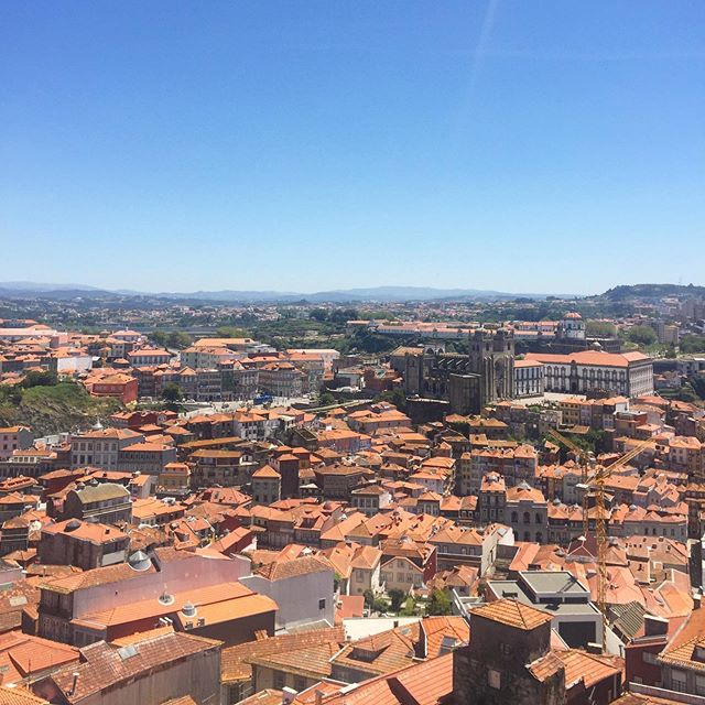 View of Porto from the Torre dos Clerigos. . . . . . #portugal #porto #travel #blacktravel #travelnoire