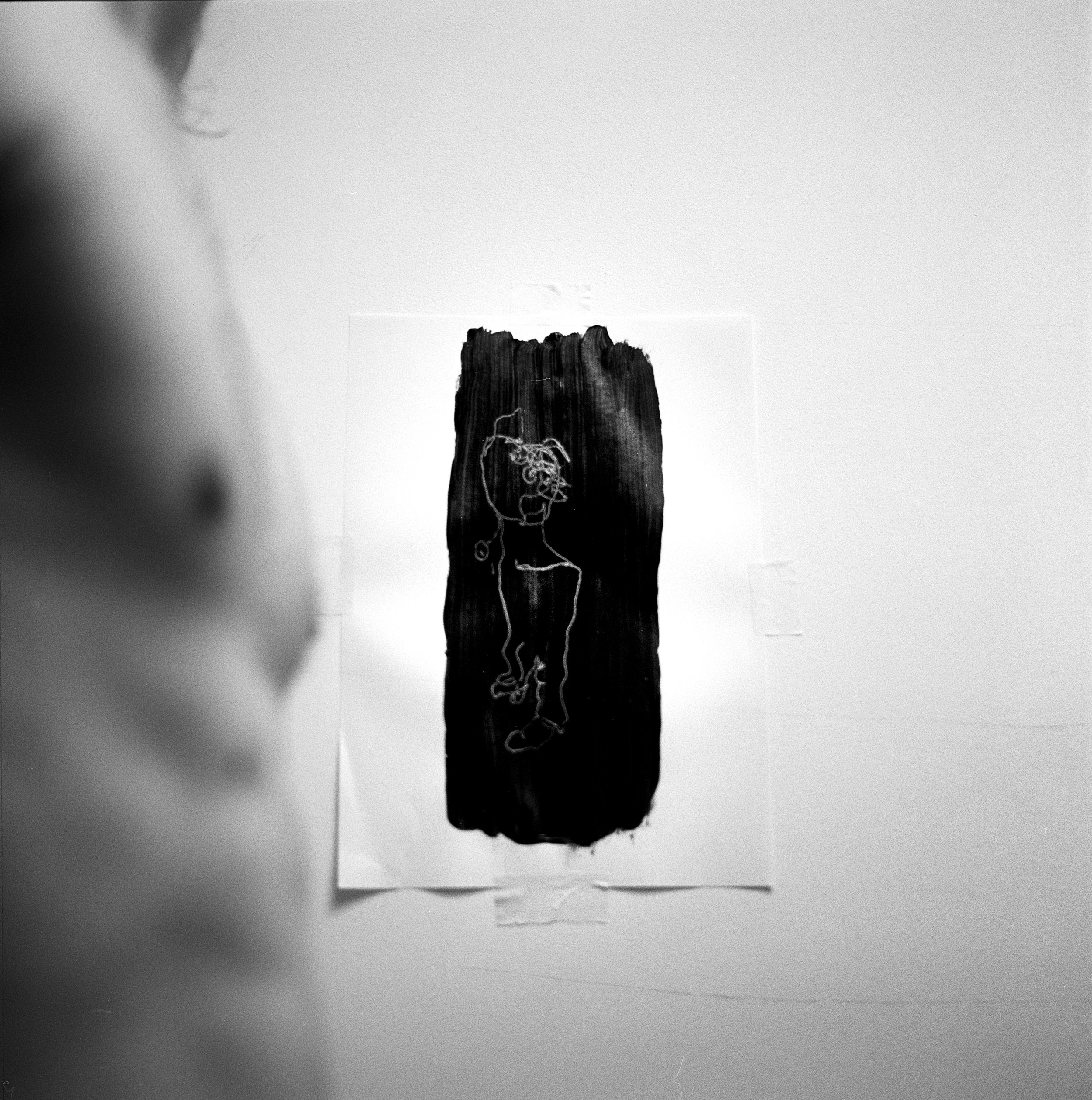 Rebecca Rose Harris, A Portrait of Blue, Analogue Photography, Black and white, conceptual art