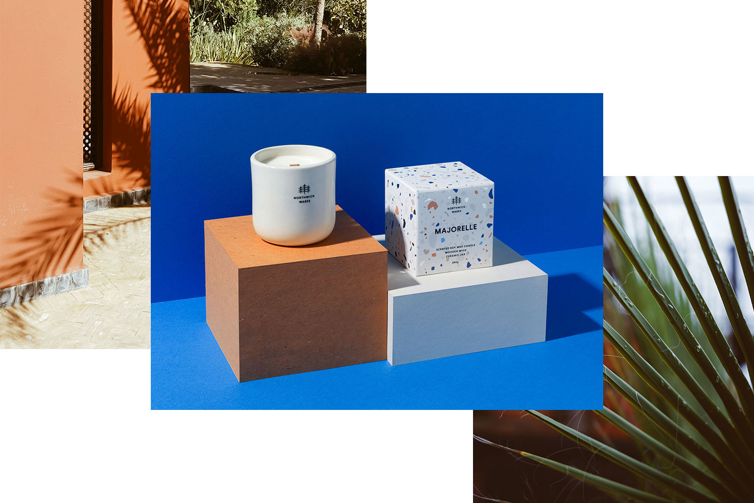 Majorelle - Inspired by the Jardin Majorelle in Marrakech, our Majorelle candle transports you to the shady Moroccan garden lanes of what was once Yves Saint Laurent's holiday home.