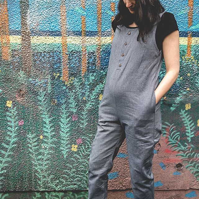 Last few of our Alba jumpsuits available in the sale in sizes Small & Medium. They're made from the most beautiful organic cotton denim - easy to layer to take you from summer into autumn!  #maternityjumpsuit #maternitystyle #maternityfashion #breastfeedingfriendly #breastfeeding #denimjumpsuit  #pregnancystyle #ethicalfashion #sustainablefashion #slowfashion #slowfashionmovement #shopconsciously #bristolfashion #organic #organicjumpsuit #organiccotton