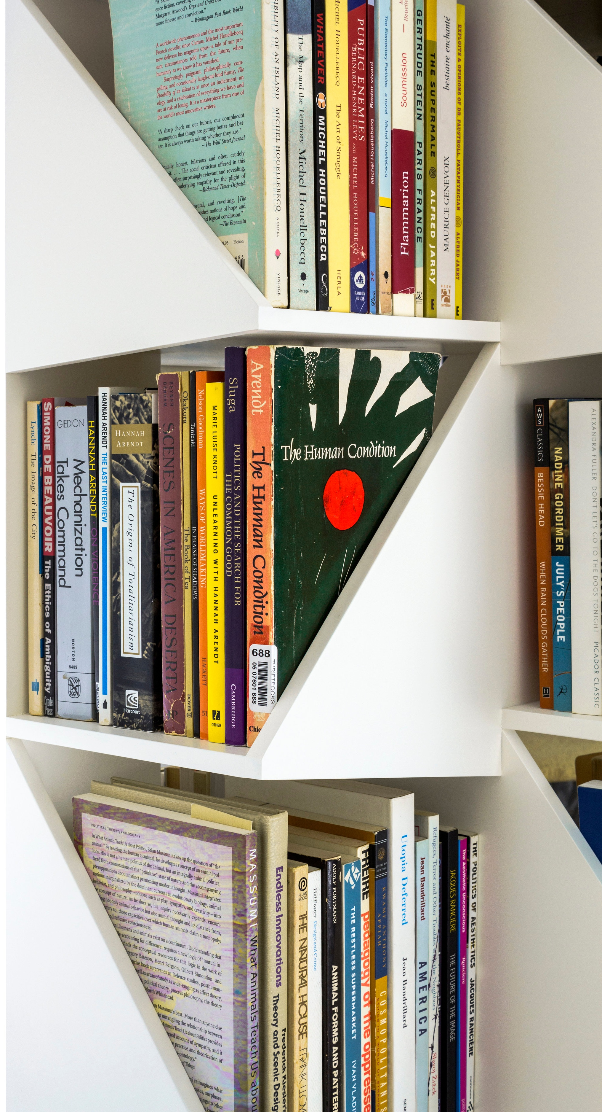 Detail of prototype with books.
