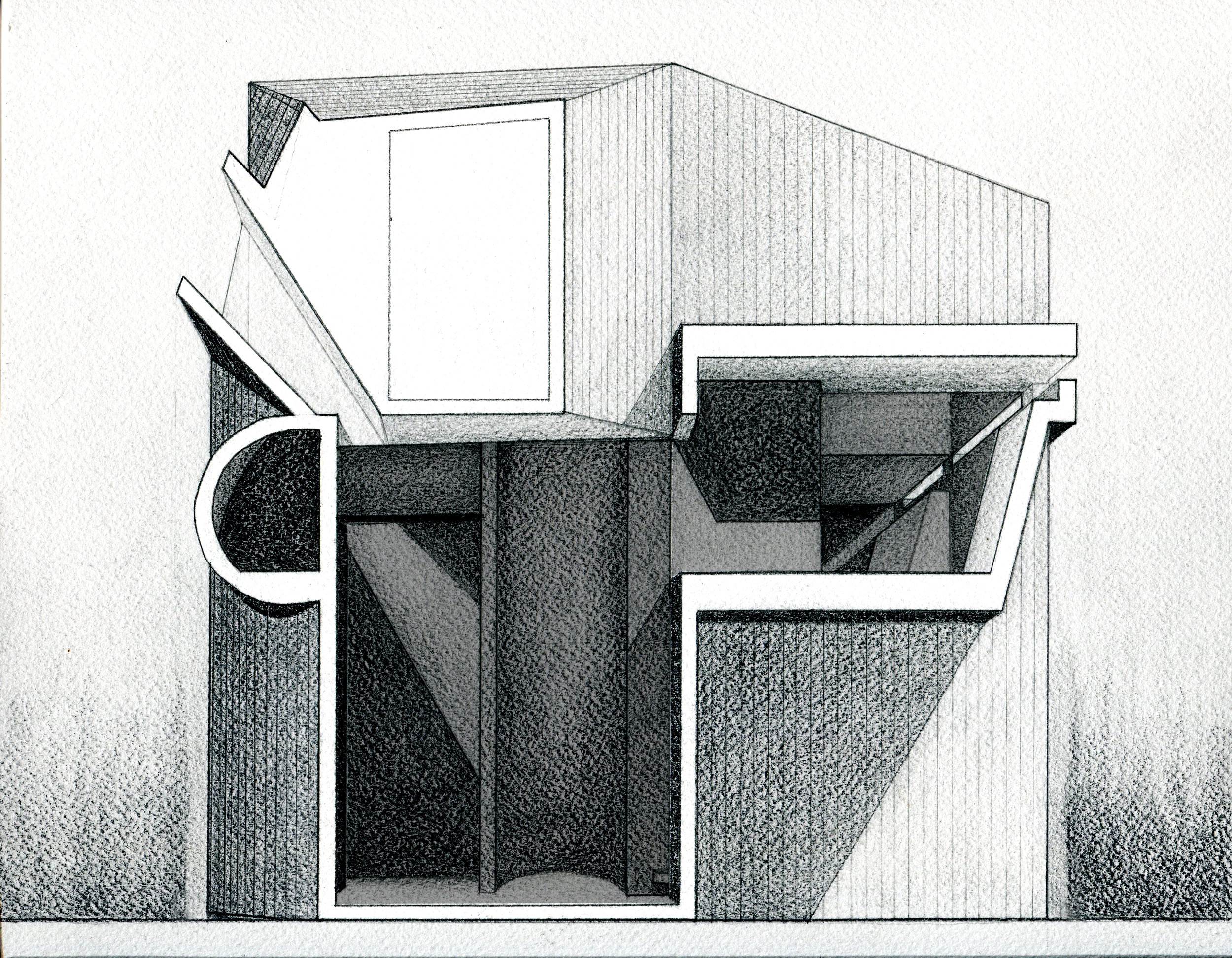 Section drawing, Leticia Wouk Almino