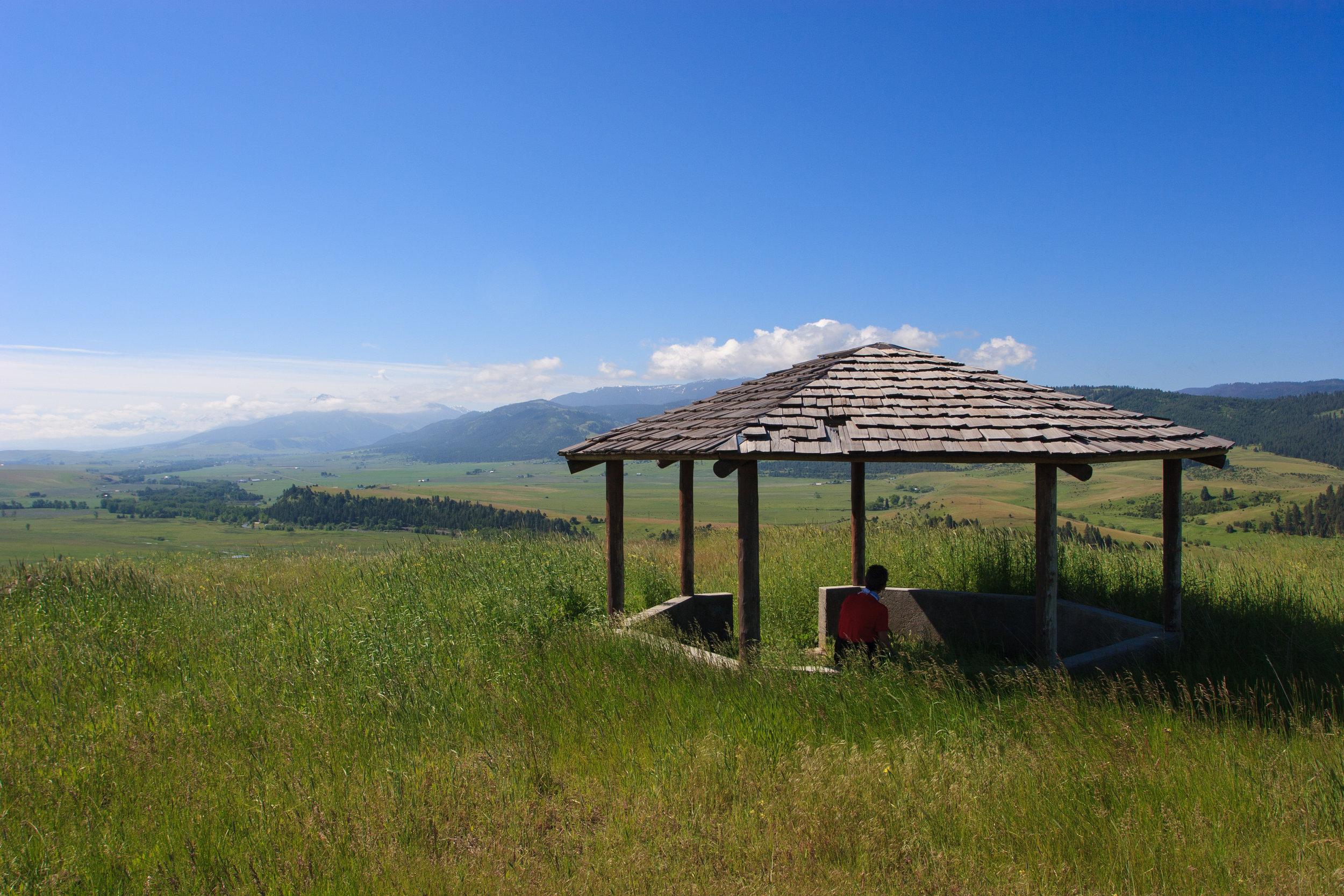 Gazebo along the Tick Hill hiking trail