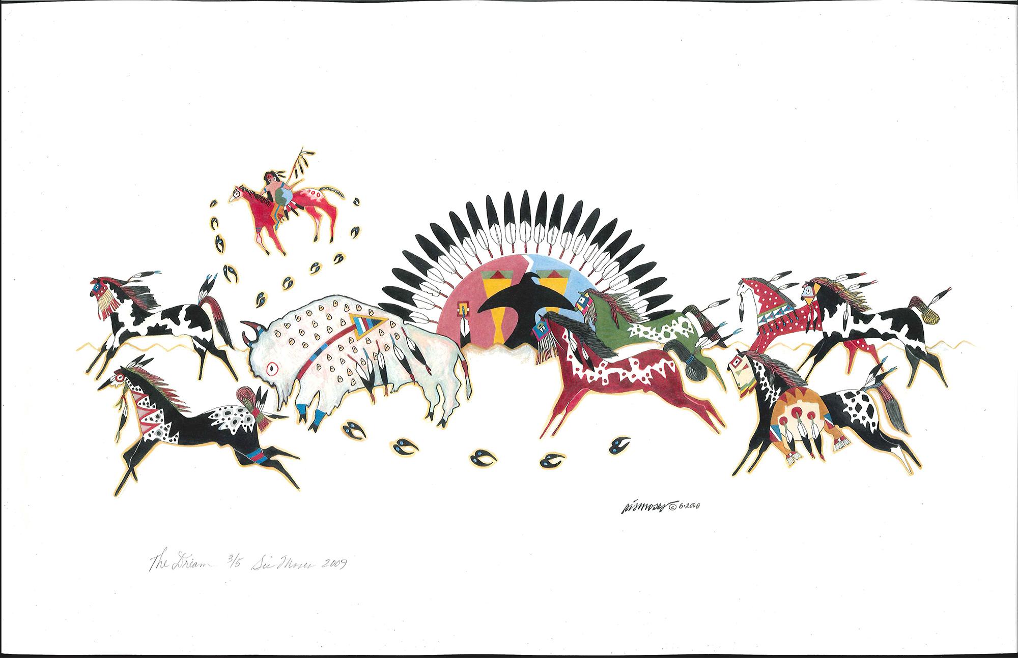 """The Dream"" original artwork used for the 2018 Tamkaliks Nez Perce Celebration poster"