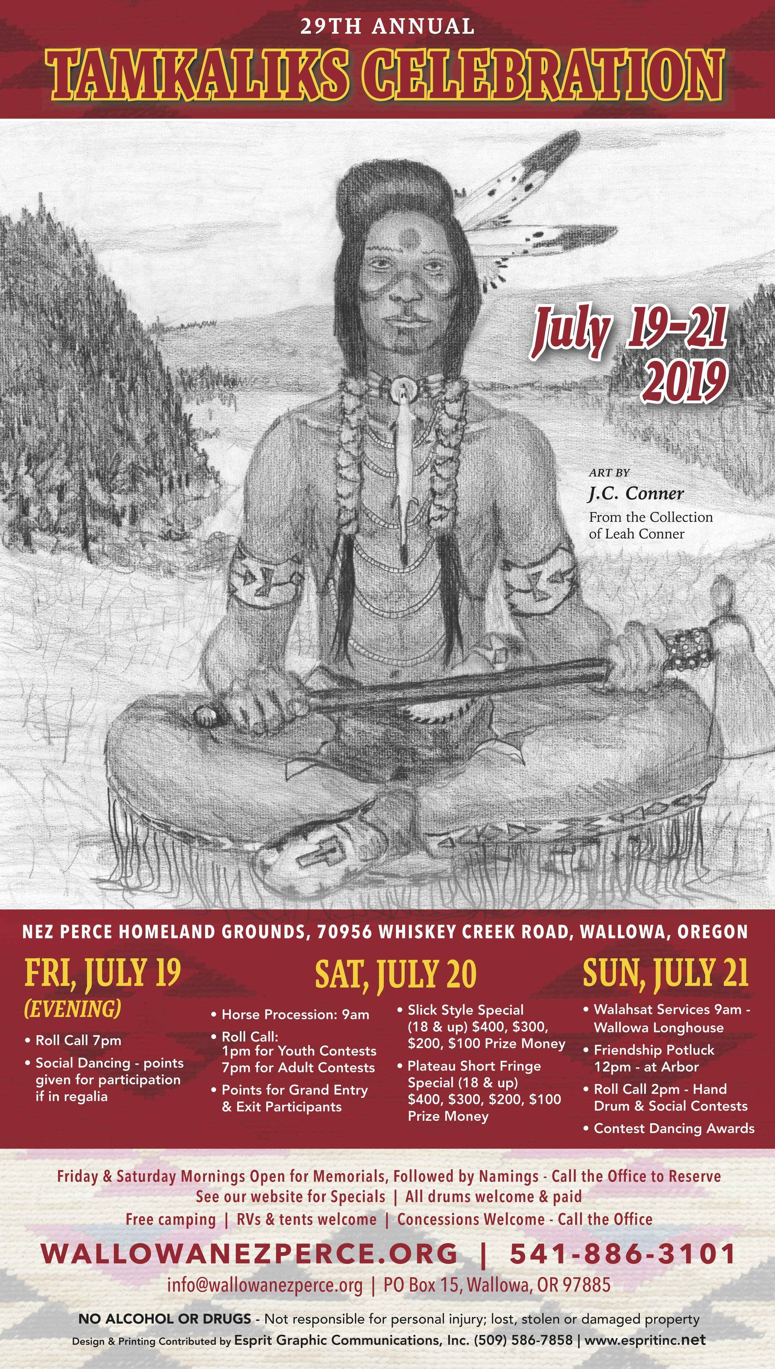 2018 Nez Perce Tamkaliks Celebration and Friendship Feast is Friday, July 20th - Sunday, July 22nd at the Tamkaliks Powwow Ground in Wallowa, OR.