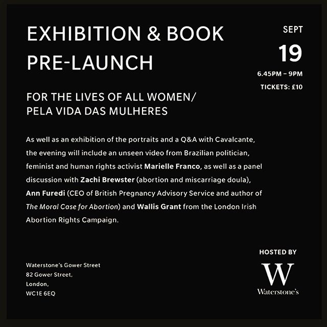 Honoured to be part of this wonderful pre-launch for @camilacavalcante.art new book, For the Lives of All Women / Pela Vida Das Mulheres.  What started as a project, grew into a book as Camila travelled around Brazil photographing and collecting the stories who have had it who have witnessed illegal abortions.  Both personal and political, the stories are theirs, but the stories are echoed by many womxn and non binary individuals all over the world.  Join us for an evening of conversation next Thursday 19th at @waterstonesgowerstreet 🖤 'It is a woman's right. It is the expression of her autonomy to claim uncompromising power over her own body and the determination of her own future.' Published by the amazing @brkthehbt  #abortion #abortionrights #abortionishealthcare #booklaunch #abortiondoula