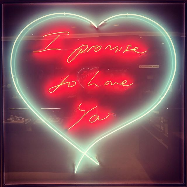 Another neon sign that caught my eye and reminded me of an important life lesson- commit to loving yourself.  Look in the mirror and make this promise to yourself every. single. day. Until you believe it with every cell in your body. When you get to that point, keep repeating it. Make it your mantra.  Loving yourself is the root to everything else.  I read the phrase once 'When I loved myself enough...' and the rest was left blank. I often think of it when making decisions, mostly around work and striving towards goals which I know will ultimately make me happy but I fear may be judged or not the generally accepted life path. Do I love myself enough to do what's right by me? Do I love myself enough to align all I do to living a more fulfilled life? I'm working on it.  What changes would you make to your life if you loved yourself more?
