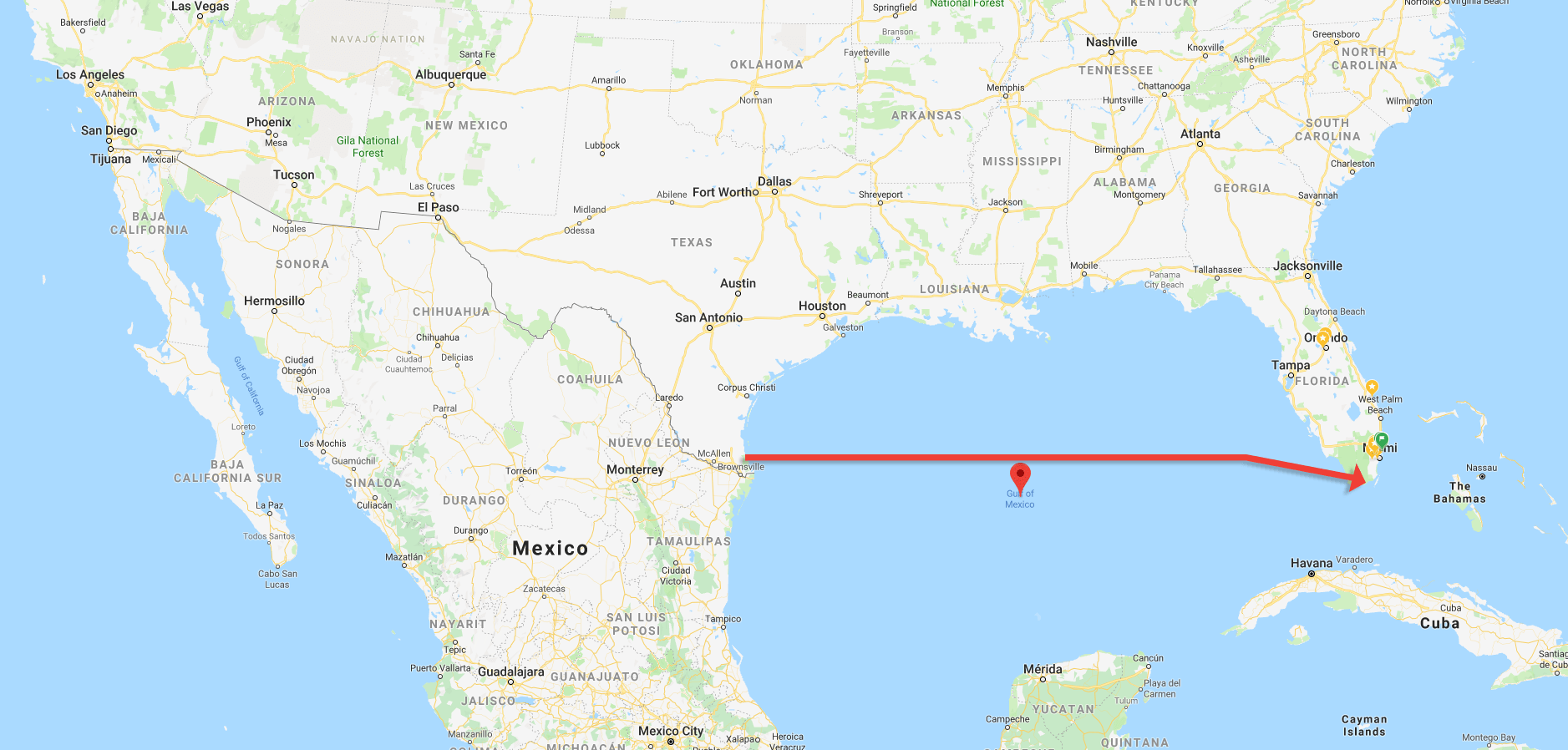 Crossing the gulf of Mexico - 1400 miles for a cancer cure