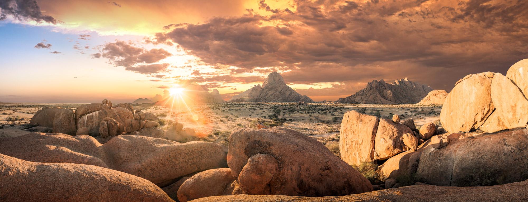 Dramatic Sunset At Spitzkoppe