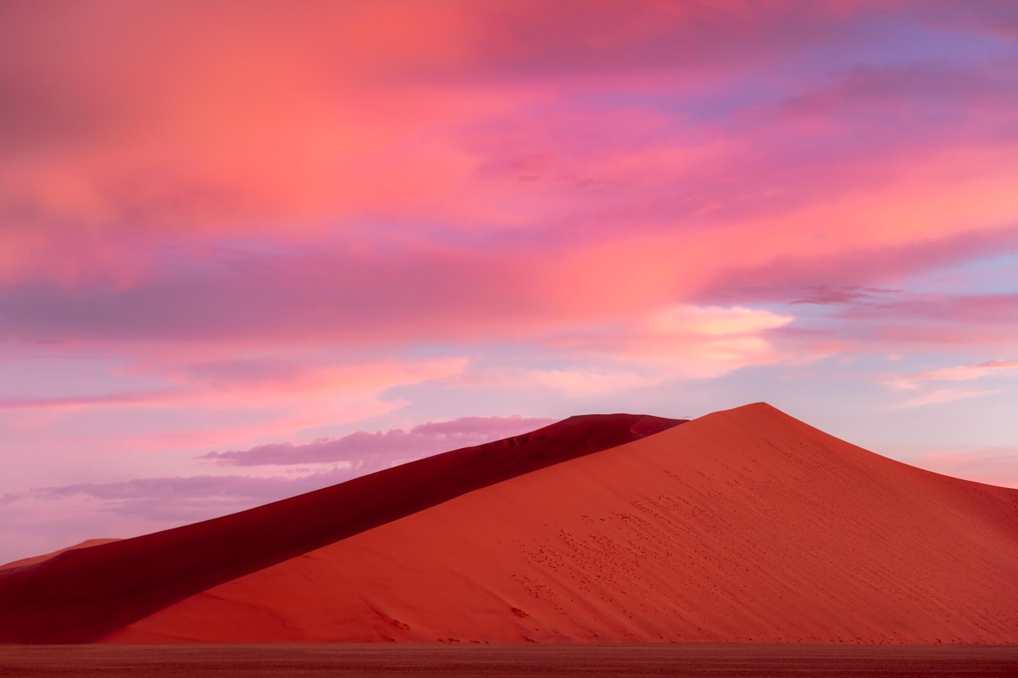 Dramatic Sunset Red Dunes Sossusvlei