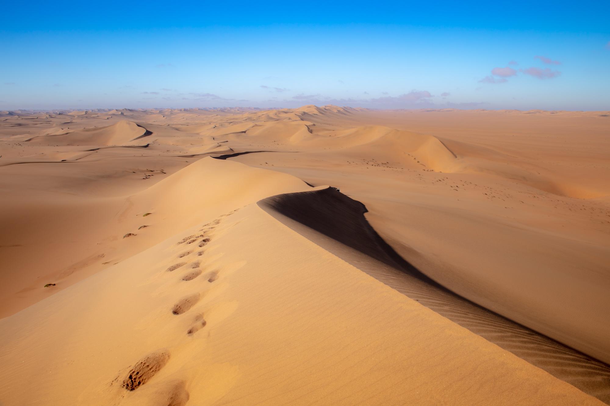 Walking To Overlook The Namib Desert