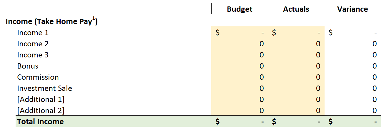Free Monthly Budget Template Download In Microsoft Excel Thirty Something Millionaire