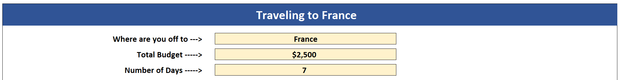 Microsoft Excel Travel Budget Template Blog Thirty Something Millionaire