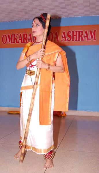 Mandakini as Lord Shiva