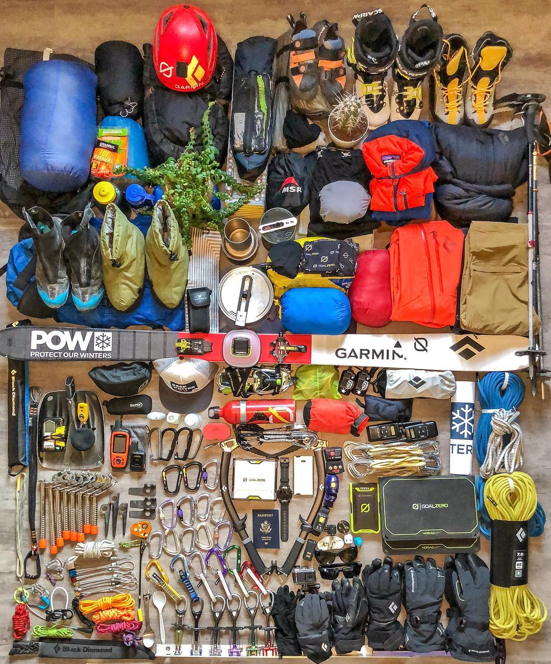 Brody's pre-expedition gear stack (Photo: Brody Leven)
