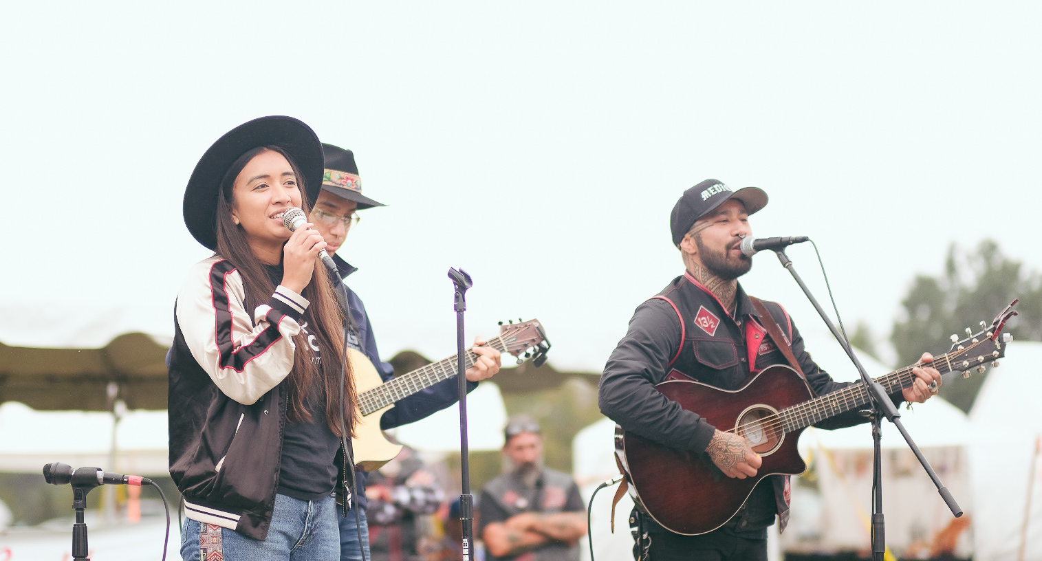 Nahko and Medicine for the People  performing in the afternoon