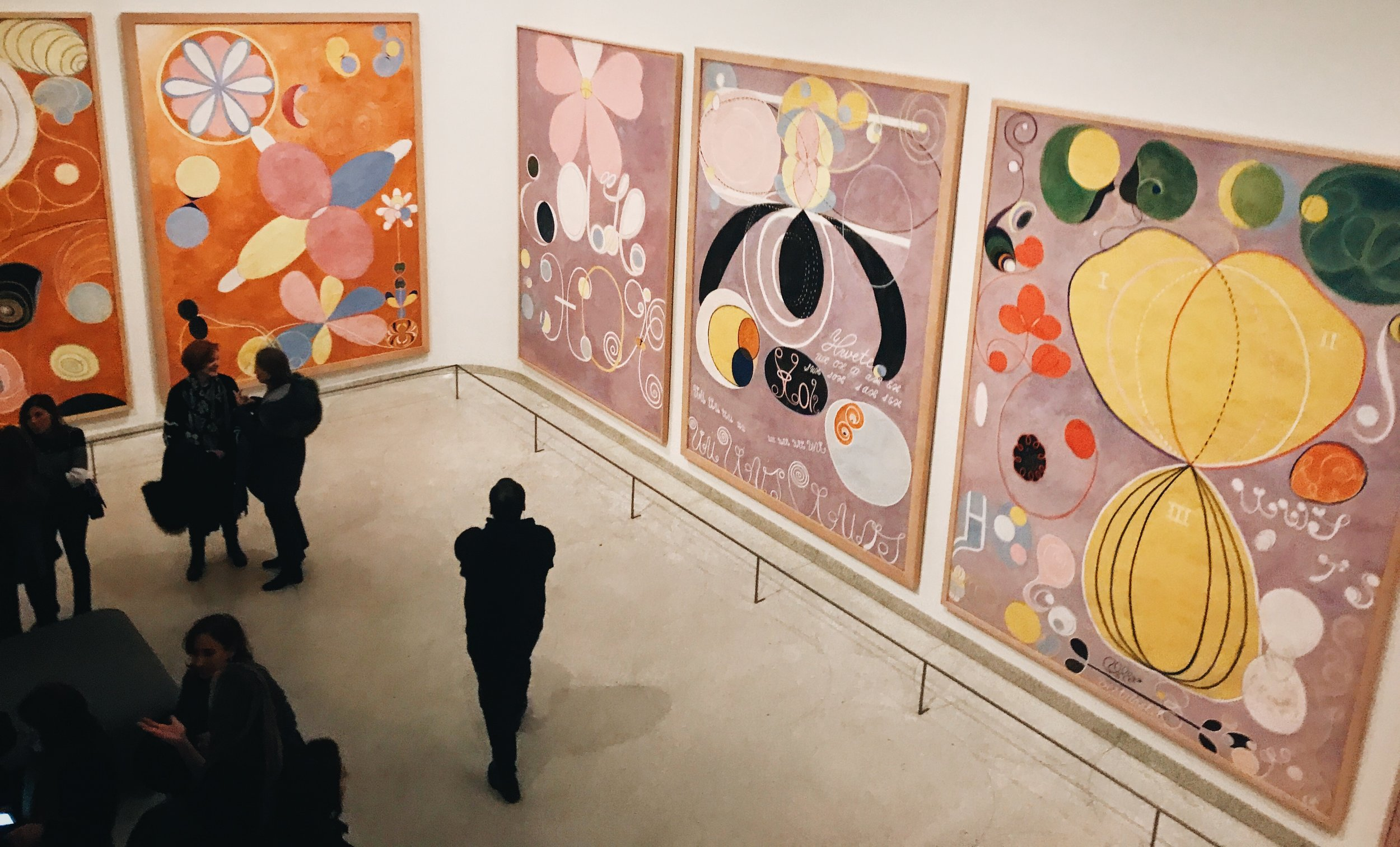 Group IV, The Ten Largest, No. 7, Adulthood by Hilma af Klint I saw at the Guggenheim